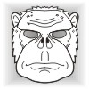 Monkey face mask template #004002
