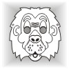 Lion face mask template #004003